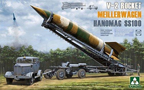 """Takom 2030 - Modellbausatz """"WWII German V-2 Rocket Transporter/Erect Meillerwagen mit Hanomag SS100"""""""