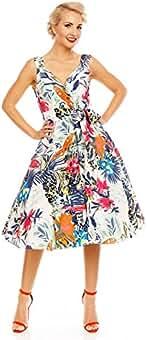 f31804ccb Looking Glam Vestido de Fiesta de Rockabilly Jive de los años 1950 Vestido  de Paradise de