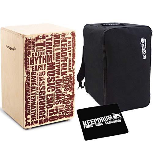 Schlagwerk CP 130 X-One Cajon Styles + keepdrum Rucksack-Tasche + Sitzpad