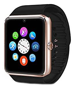 JIKRA Bluetooth Smart Wrist Phone Watch Compatible With Micromax bolt A075 With Camera & Sim Card support