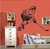 Wandtattoo Wandbild #178 Eishockey Spieler Ice Hockey Player Torwart ver. Größen und Farben