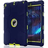 TOPSKY iPad Air 2 Case,[Robot Series] Shock-Absorption High Impact Resistant Hybrid Armor Defender Shockproof Case Cover For iPad Air 2 (Only For iPad Air 2 2015 Released), Navy Blue/Lemony Yellow