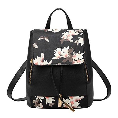 LAIDAYE PU-Schulterbeutel-Art Und Weisedamen Sacken Rucksackhandtaschen Ein 2
