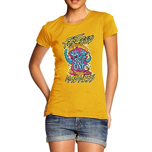 TWISTED ENVY Damen T-Shirt Gr. X-Large, Gelb - Gelb