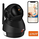 ANRAN CCTV Camera, IP Camera Wireless1080P 2.4G WiFi Security Camera for Baby /Elder/ Pet/Nanny Monitor, Pan/Tilt, Two-Way Audio & Night Vision, Motion Detection, Phone APP,Support Micro SD Card