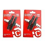 Clarks CP510 Mountain Bike Brake Blocks for Rim Style Brakes 70mm (2 Pairs)