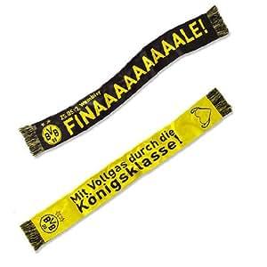 Borussia Dortmund Schal / Scarf / Fotoschal Champions League – Finale BVB 09 (Strickschal 100 % Acryl-Wolle, 16 x 140 cm)