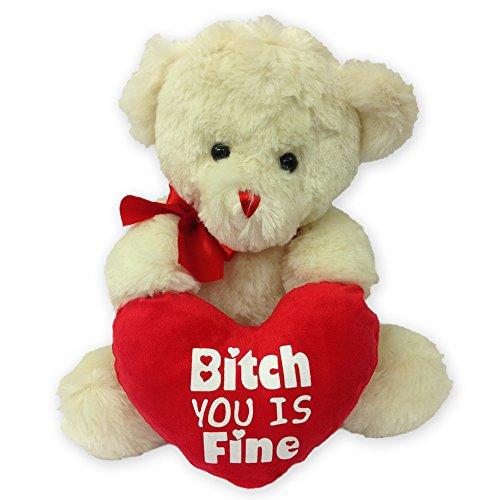 B * * * * * * * * vous est TCH Ours en peluche. Cadeau Mignon, ours en peluche, Saint-Valentin, cadeau, Love, doudou ours, cœur, cadeau humoristique, joke Valentines Day Teddy Funny