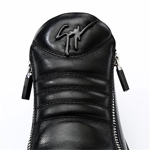 Autunno Inverno Moda Maschile mantenere caldo Scarpe in pelle classica nero