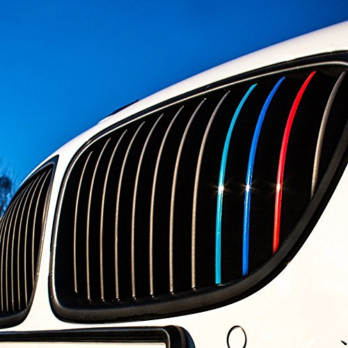Wandkings Adesivi riflettenti per griglie auto frontali, colori blu scuro,