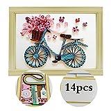 Kit complet pour faire Tableau de Artesania quilling vélo bandes papier, Semelles...
