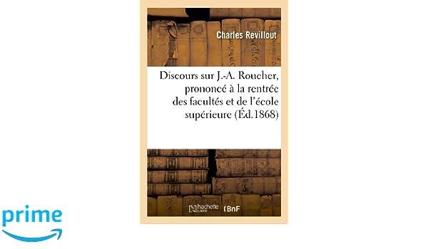Amazon fr - Discours sur J -A  Roucher, prononcé à la