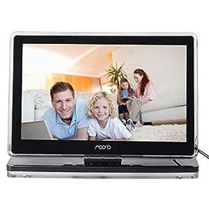 """Ultra-Slim Cadre Photo Numérique 10.2 """" TFT écran Haute Résolution Support Multi-format avec 4 Go de Mémoire , Télécommande - Noir"""