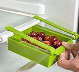 Bluelover Plastic Küche Kühlschrank Kühlschrank Gefrierschrank Storage Rack Shelf Halter Küchenorganisation Weiß - 5
