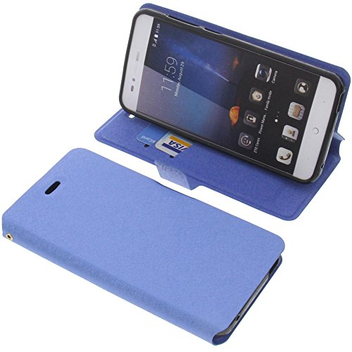 foto-kontor Tasche für ZTE Blade A612 Book Style blau Schutz Hülle Buch