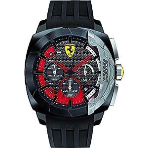 Ferrari Homme Montre avec bracelet Aero Dina Mico Chrono à quartz analogique silicone 0830205