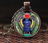 Collar egipcio de Scarab, joyería de Scarab, joyas antiguas de Egipto, joyería egipcia, colgante de Scarab, bufanda egipcia, collar de escarabajo para hombre