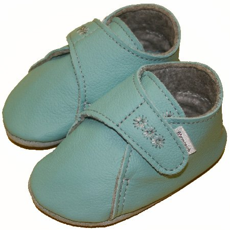 Chaussons pour bébé chauds aqua Bleu - Bleu