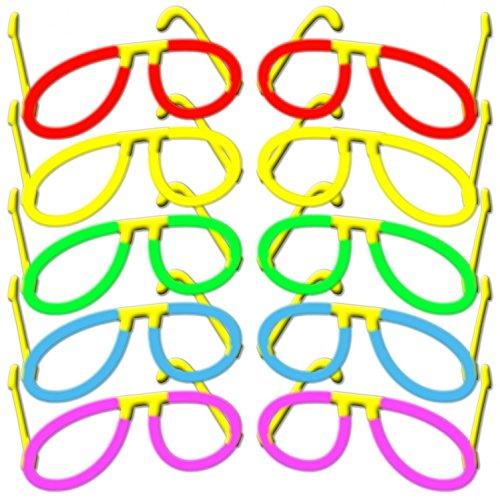 Confezione da 10-Occhiali knick luci occhiali luminosi occhiali da pilota in 5colori accesi Mix-Set completo.-fabbrica freschezza merce di qualità-dal 2002sotto Eigener marchio di qualità prodotto-hansecontrol Prüf Note 1,6(2016)