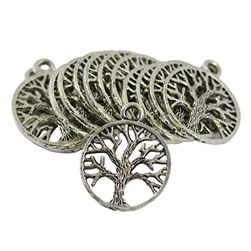 Generic Ethnische Antik Silber Baum des Lebens Charme Anhänger Schmuck DIY Machen 30pcs