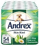 Andrex Toilet Roll Skin Kind, with Aloe Vera, 54 Rolls