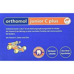 Orthomol junior C plus 30er Kinder Direktgranulat, Himbeer-Limette - Vitamine & Spurenelemente für das Immunsystem