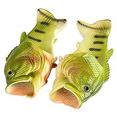 Idea Regalo - Ciabatte unisex divertenti a forma di pesce, per spiaggia, bagno, piscina, doccia, Silicone, 42-43