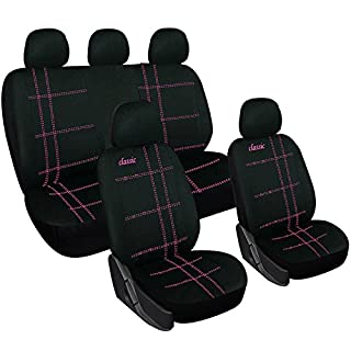 WOLTU AS7271 Sitzbezüge Auto für PKW ohne Seitenairbag, Classic-Linie, rosa