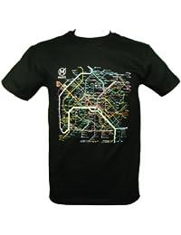 RATP - T-Shirt Homme Officiel Paris Métro - Couleur : Noir