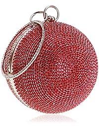 e447d7c6f4408 Uiophjkl Mini-Abendtaschen Abendtasche Runde Diamantbesetzte Abendtasche  Damen Spherical Tote Abendkleid Clutch (Farbe