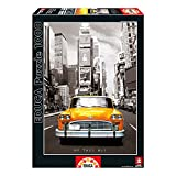 Educa 14468 - Puzzle - Taxi No. 1 New York, 1000-Teilig, schwarz/weiß koloriert