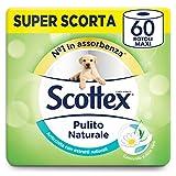 Scottex Pulito Naturale Carta Igienica, Confezione da 60 Rotoli Maxi