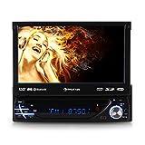 Auna MVD 220 MK II autoradio Multimedia (avec Bluetooth, ecran Retractable 18cm, Lecteur DVD, Port USB et SD Compatible MP3, Tuner FM, kit Mains Libres et télécommande)