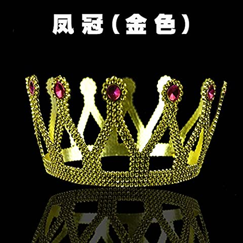 Esibizioni e ornamenti hairbands principe re Crown Princess diademi corona testa contro l'imperatore Tiara Regina Bong-sam Hui ,50*8cm,6,50*8cm