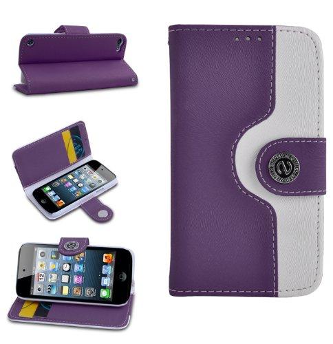 Magic Global Gadgets Für Apple iPod Touch 5 / Apple iPod Touch 6, Purple & White Retro, Apple iPod Touch 5 / Apple iPod Touch 6 (Survivor Für Ipod 5. Generation)