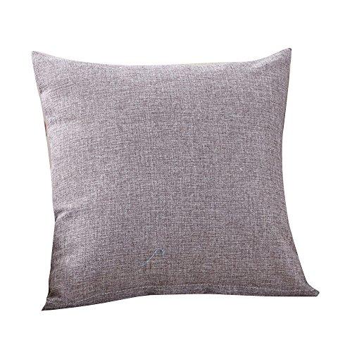 DEELIN Mode Simple Lin Coton Jet Taie d'oreiller Café Canapé Home Decor Housse de Coussin 50 * 50 CM 45 * 45 CM 40 * 40 CM 30 * 50 CM