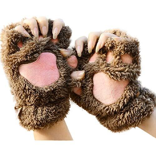 r Handgelenkwärmer Gestrickte Tastatur-lange fingerlose Handschuhe Mitten Warme Unifarben Fäustlinge Handschu Cozy Halb Winterhandschuhe Strick Sporthandschuhe Damen Uhr ()