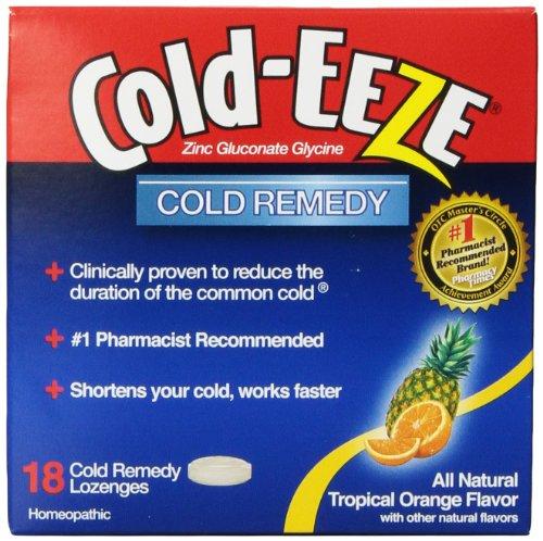 Cold-Eeze Erkältungsmittel Lutschtabletten mit Tropischem Fruchtgeschmack 18 Stück