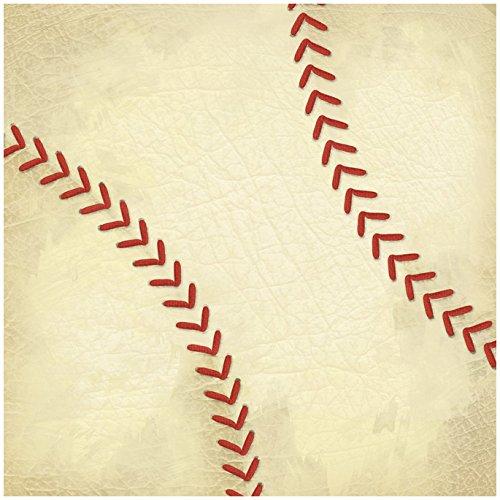 Unbekannt Karen Foster Scrapbook-Papier, 30,5 x 30,5 cm 12 x 12 Baseball Stitches