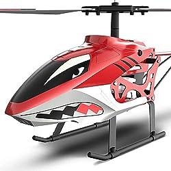 SIMR6 Helicóptero RC Interior/Exterior Grande Hélices giroscópicas incorporadas 2.5 Canales Control Remoto Aviones Giroscopio Sistema de estabilización Hobby Control Remoto Juguetes educativos Navid