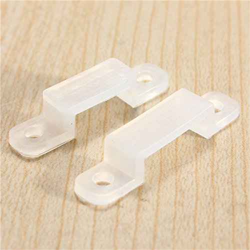 LED Strip Accessory Fix Clips 8/10mm per SMD 3528 5050 Strip Striscia
