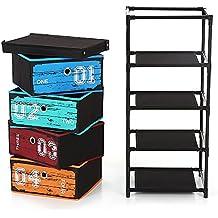 ikayaa cajón armario plástico Armario con 4cajones ins20632