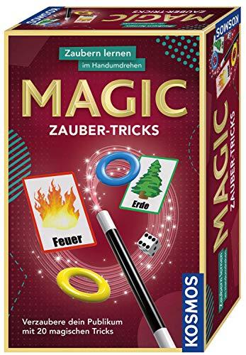KOSMOS 657413 - Magic Zauber-Tricks, Zaubern lernen im Handumdrehen, Mit Zauberstab und Utensilien für 20 magische Tricks, Kompaktes Format, Mitbringspiel, Experimentierset