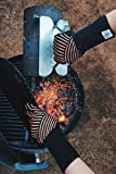 Ess-Nische Grillhandschuhe Hitzebeständig Bis 500 °C - Ofenhandschuhe Für Küche & Grill - Premium Backhandschuhe Extra Lang - 3