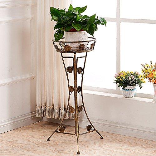 ZH im Europäischen Stil Eisen Blumenständer Einzel-Becken Balkon Balkon Orchidee Blumentopf Rack,C,Hohe 100 cm
