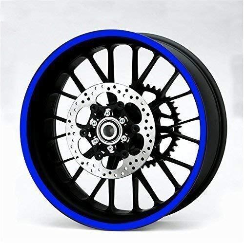 Resistente Reflectante Azul 600mm Tira Pegatina Coche Moto Quad Trike Ruedas Carrocería...