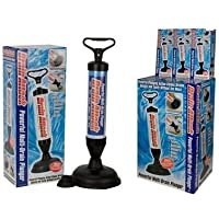 DRAIN BUSTER POWERFUL PLUNGER TOILET SINK CLOG SUCKER REMOVER BATH TUBS SHOWERS