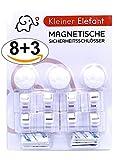 Magnetische Kindersicherung Schrank und Schublade Kleiner Elefant 8+3 Unsichtbare Schranksicherung Schubladensicherung für Babys für Küchen …