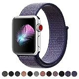 HILIMNY Für Apple Watch Armband 42MM, Ersatz für iwatch Armband Series 3, Series 2, Series 1 (Mitternachtsblau, 42MM)