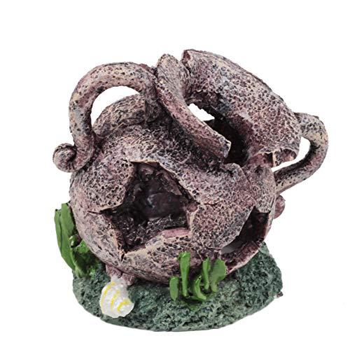 e Topf Hintergrund Fisch Tank Aquarium Dekorative Ornament ()